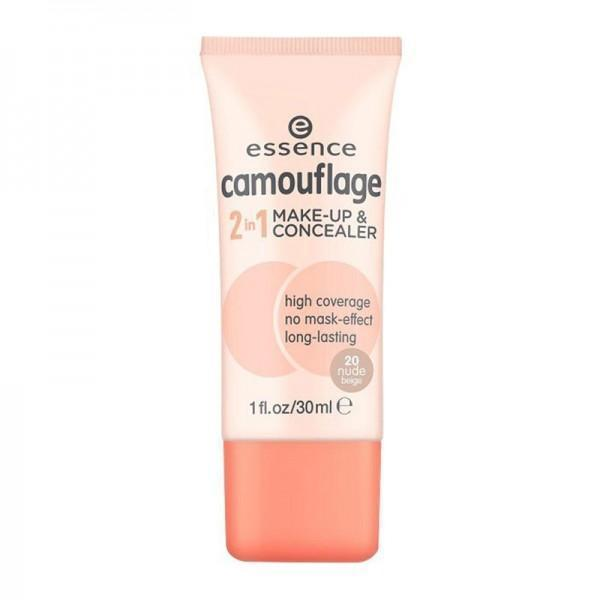 Essence Camouflage 2In1 Make-Up & Concealer 20 Nude Beige - O2morny.com