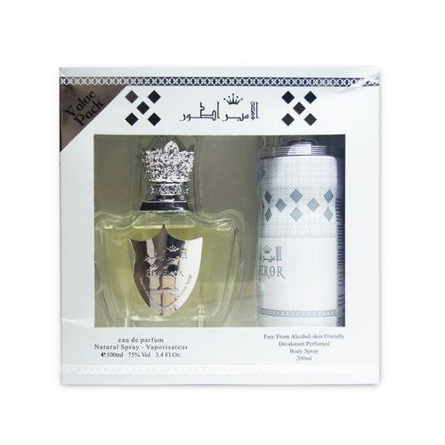 White Emperor  Gift Set - Unisex - EDP 100ml + Body Spray 200ml