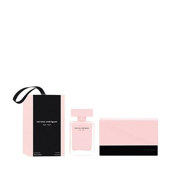 Narciso Rodriguez For Her Eau de parfum Gift Set 50 ml + Mini Pouch - O2morny.com