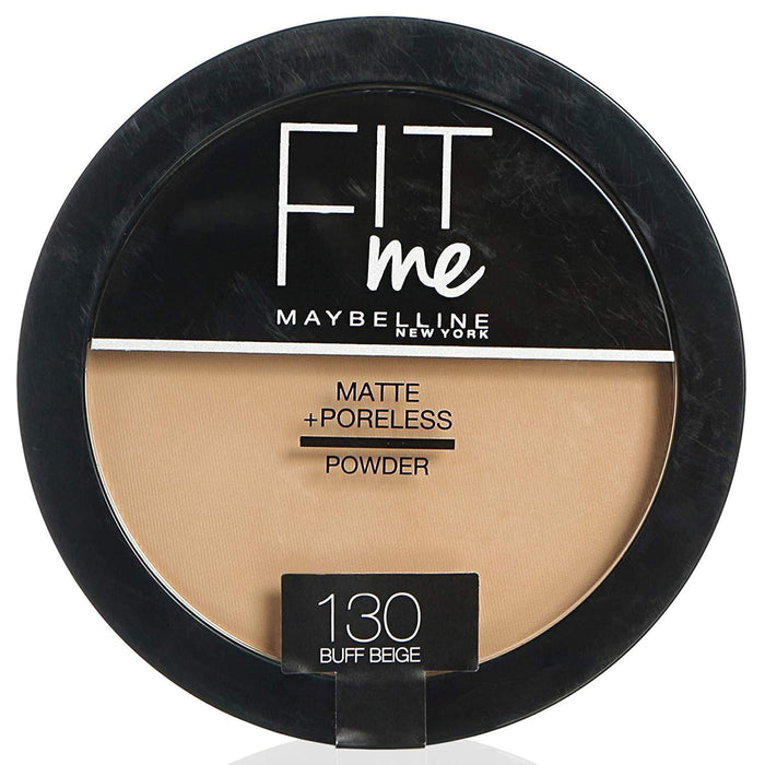 Maybelline New York Fit Me Matte & Poreless Powder – 130 Buff Beige