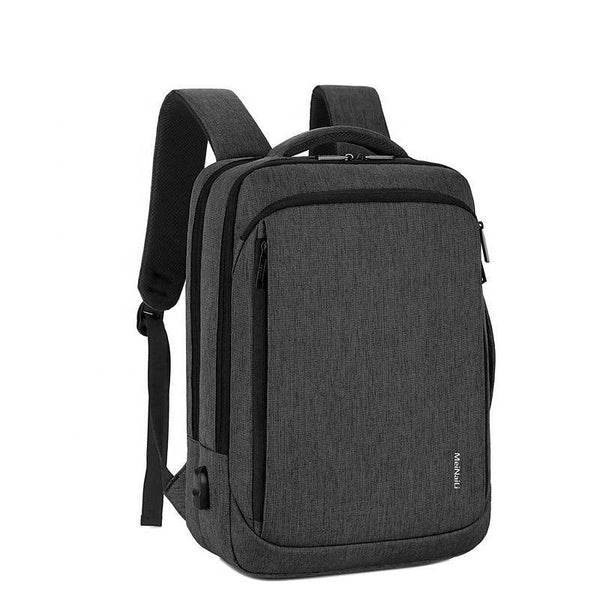 Meinaili 023 Nylon Laptop Backpack With USB Charging Port - 15.6-inch