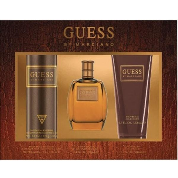 Guess By Marciano for Men Eau De Toilette 100ml +Shower Gel 200ml +Body Spray 226ml - O2morny.com