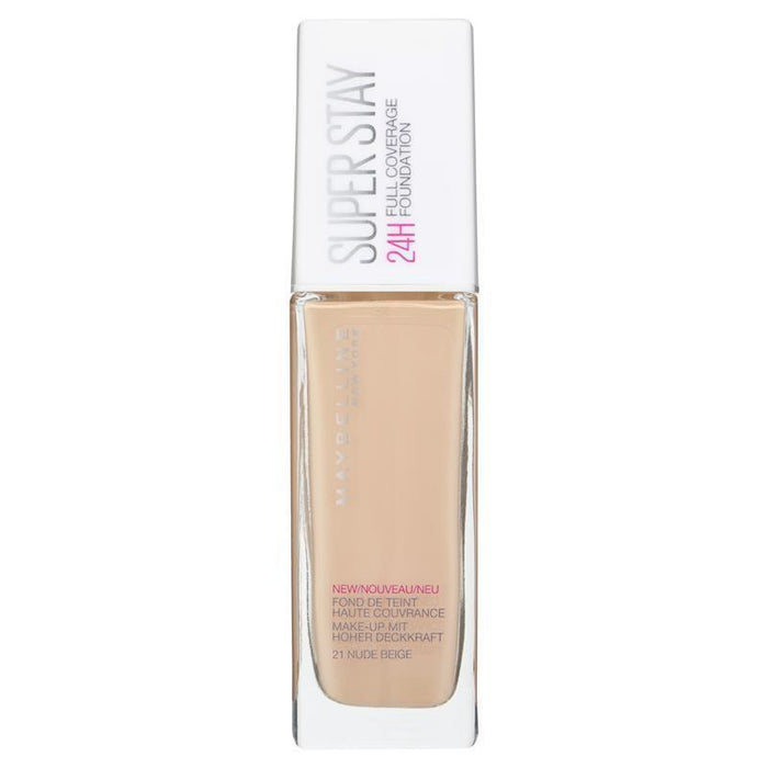 Maybelline Superstay 24 Hr Foundation 21 Nude Beige - O2morny.com
