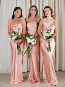 2020 Popular Wedding Guest Dresses, Simple Long Bridesmaid Dresses