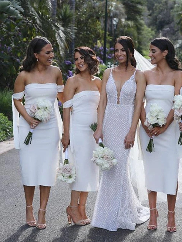 Off The Shoulder Bridesmaid Dresses, Popular 2020 Bridesmaid Dresses, Wedding Guest Dresses