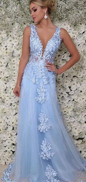 Lace Long Prom Dresses, High Fashion School Graduation Party Long Prom Dresses