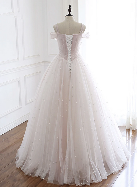 A-line Beaded Wedding Dresses, Elegant Wedding Dresses, 2020 New Wedding Dresses