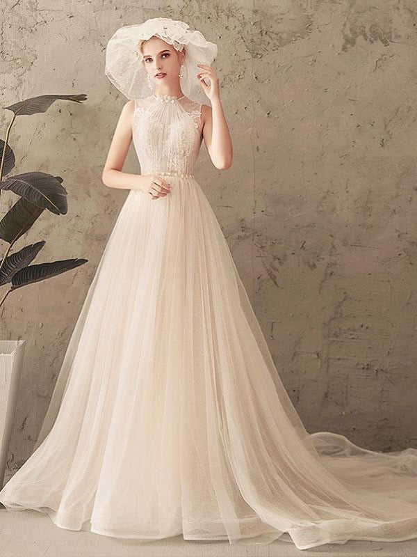 Elegant Newest Long Wedding Dresses, Popular Bridal Gowns, Lace Wedding Dresses