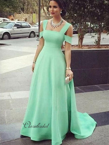 Popular A-line Evening Party Prom Dresses, Simple Design Prom Dresses