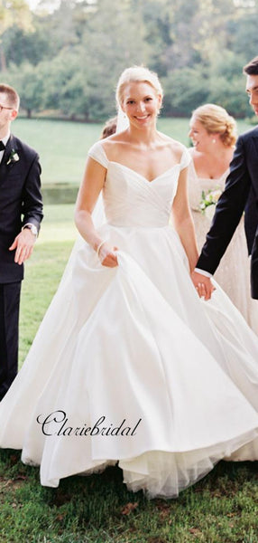 A-line Wedding Dresses, Off Shoulder Wedding Dresses, Bridal Gowns