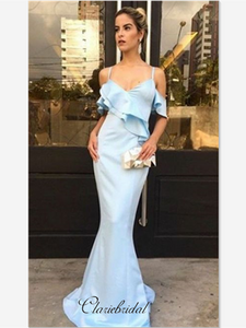 Mermaid Strap Custom Party Prom Dresses, Newest Prom Dresses, Off Shoulder Prom Dresses