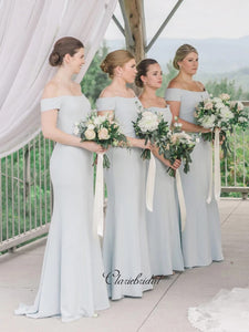 Off Shoulder Bridesmaid Dresses, Mermaid Bridesmaid Dresses