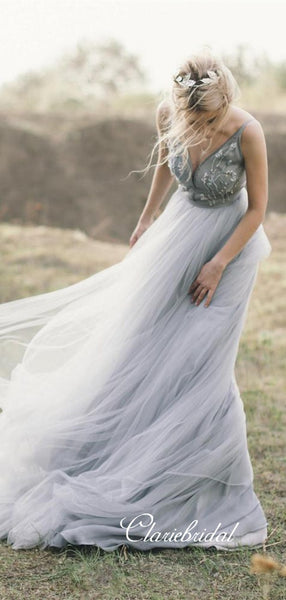 Elegant Beaded Fashion Wedding Dresses, 2020 Newest Custom Design Wedding Dresses