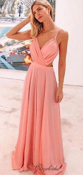 Sexy Spaghetti Straps Long Evening Party Prom Dresses, Fashion 2020 Prom Dresses