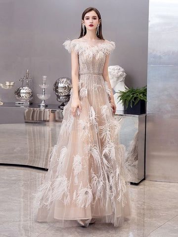 Luxury Fashion Long Prom Dresses, Unique Design Prom Dresses