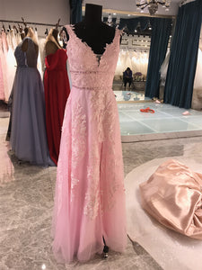 Popular Lace Long Prom Dresses, Fancy Newest Lace Prom Dresses 2020