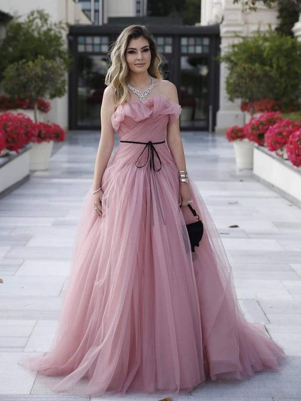 Elegant Strapless Long Prom Dresses, 2020 Newest Graduation Party Prom Dresses