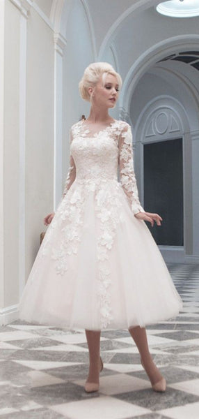 Long Sleeves Lace Wedding Dresses, New Fahion Wedding Dresses