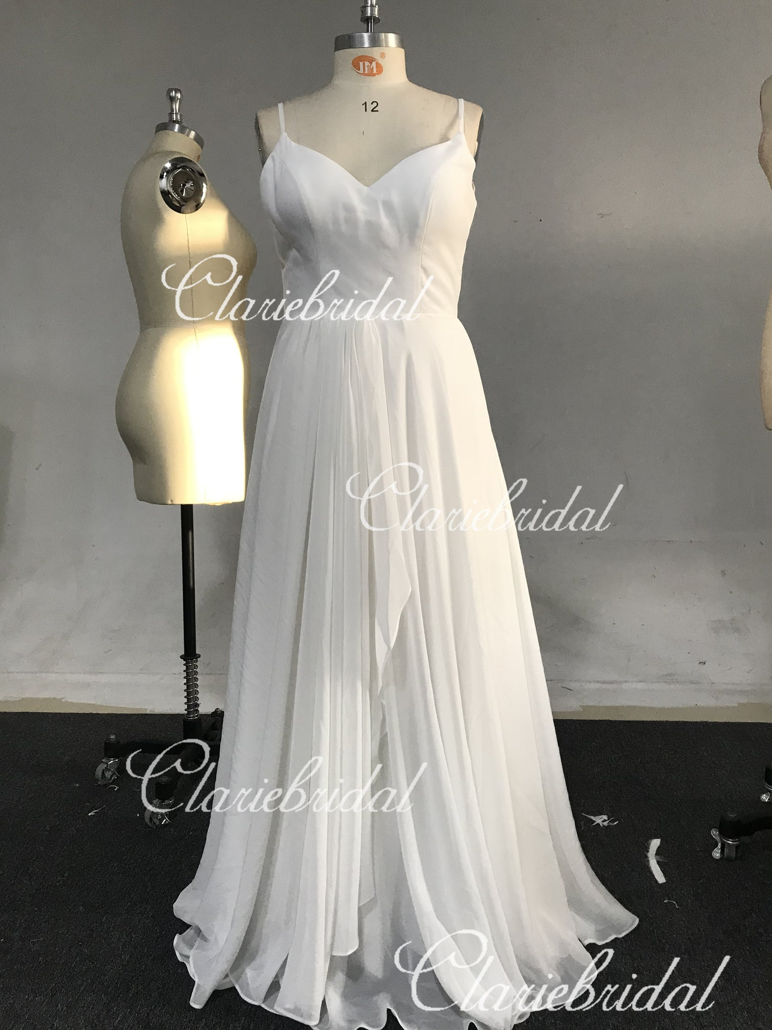 Feedback for Long A-line Chiffon Beach Wedding Dresses