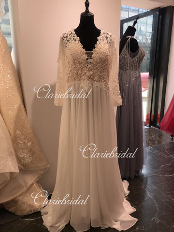 Feedback for Long Sleeves Lace Wedding Gown