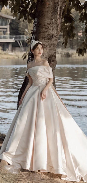 A-line Quality 2021 Newest Bridal Gowns, Ball Design Popular Wedding Dresses