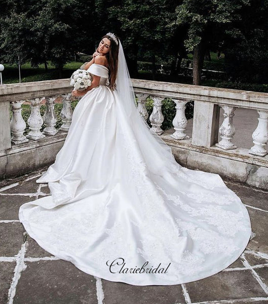 Off The Shoulder Wedding Dresses, Lace Wedding Dresses, Popular Wedding Dresses