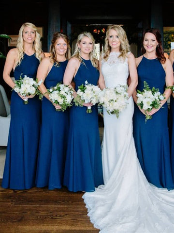 Long Mermaid Chiffon Bridesmaid Dresses, Wedding Party Dresses, Long Bridesmaid Dresses