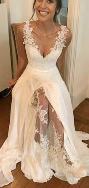 Cheap Lace Wedding Dresses, Newest Wedding Dresses, Beach Wedding Dresses