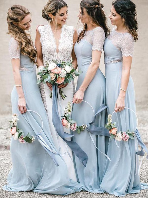 Fancy Lace 2020 Long Bridesmaid Dresses, Newest Wedding Guest Dresses