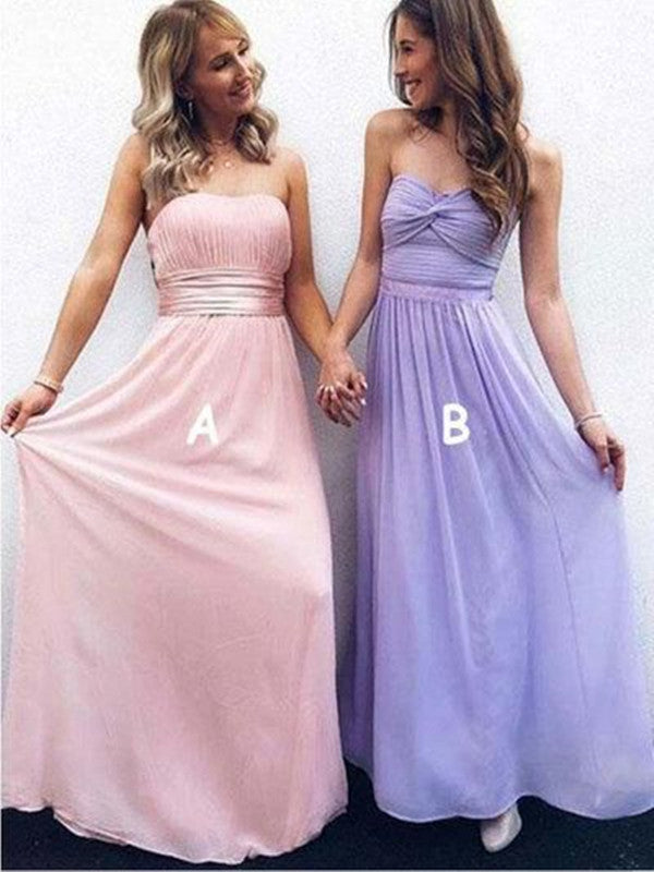 Strapless Bridesmaid Dresses, Fancy Wedding Guest Dresses, Long Bridesmaid Dresses