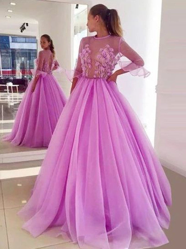 A-line Popular Prom Dresses Long, Beaded Fancy Prom Dresses, 2020 Prom Dresses