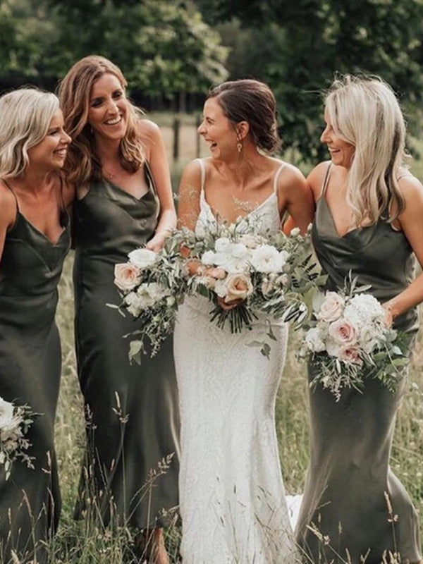 Simple Newest Bridesmaid Dresses, Straps Wedding Guest Dresses, Bridesmaid Dresses