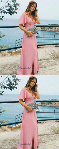Chiffon A-line Bridesmaid Dresses, Popular Simple Bridesmaid Dresses