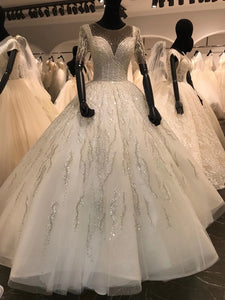 Luxury Bling Bling Wedding Dresses, Elegant Newest Bridal Gowns