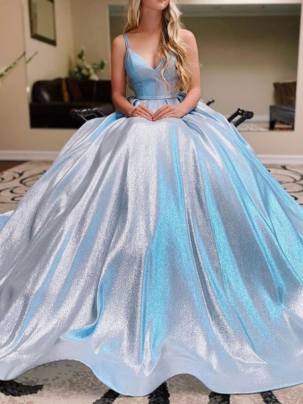 2020 Popular Design Shiny Long Prom Dresses, A-line Prom Dresses, Modest Prom Dresses