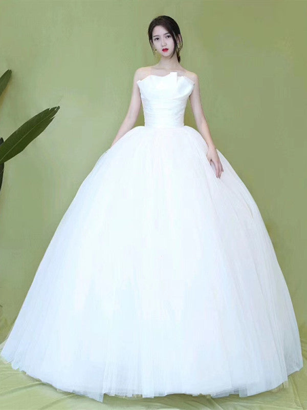 Popular Strapless A-line Wedding Dresses, Newest Bridal Gowns, 2020 Wedding Dresses