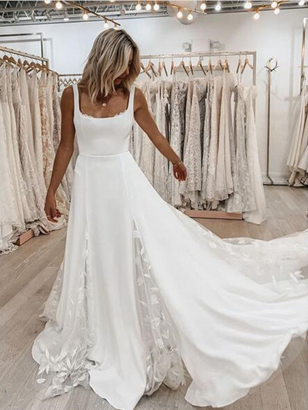 Popular A-line 2020 Wedding Dresses, Bridal Gowns, Modest Wedding Dresses