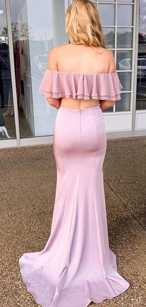 Off The Shoulder Popular Long Prom Dresses, Newest Mermaid Prom Dresses 2020