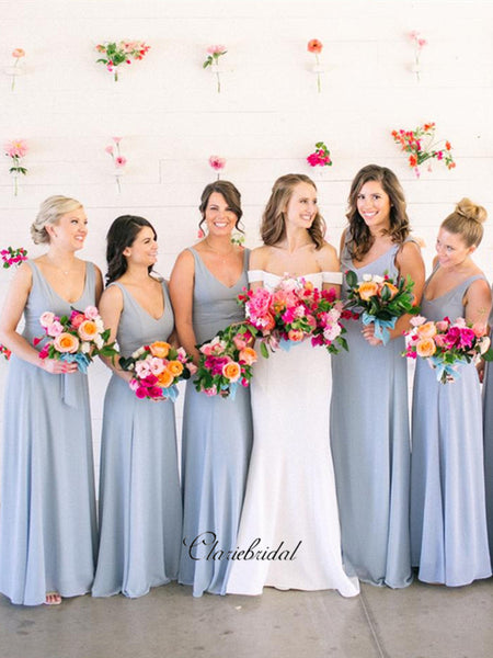 Blue A-line Bridesmaid Dresses, Popular Bridesmaid Dresses