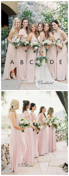 Mix Design Pink Color Bridesmaid Dresses, Popular Bridesmaid Dresses
