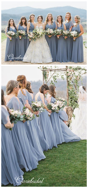 New Trendy Chiffon Bridesmaid Dresses, Elegant Bridesmaid Dresses