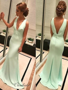 Simple Design Evening Party 2020 Prom Dresses, Cheap Mermaid Long Prom Dresses