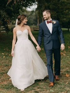 Sweetheart Newest Wedding Dresses, Strapless Tulle Bridal Gowns
