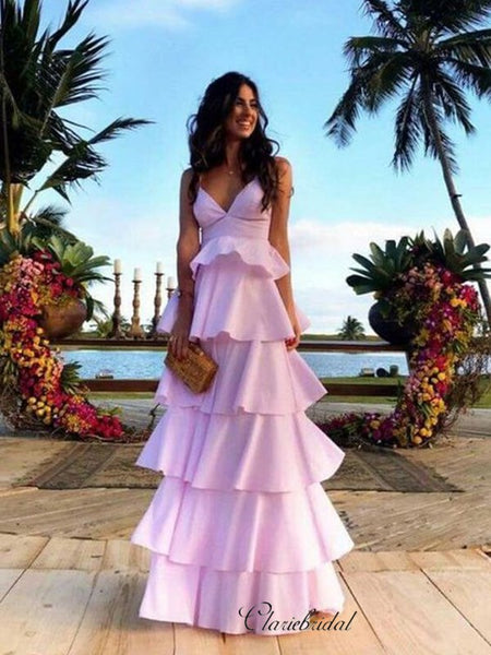 Lovely Fluffy Long Prom Dresses, Fancy 2020 Prom Dresses, Evening Party Dresses