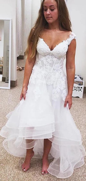 Modest A-line Lace Wedding Dresses, 2020 Newest Wedding Dresses Long