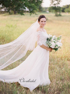 Half Sleeves Lace Wedding Dresses, Off The Shoulder Lace Wedding Dresses