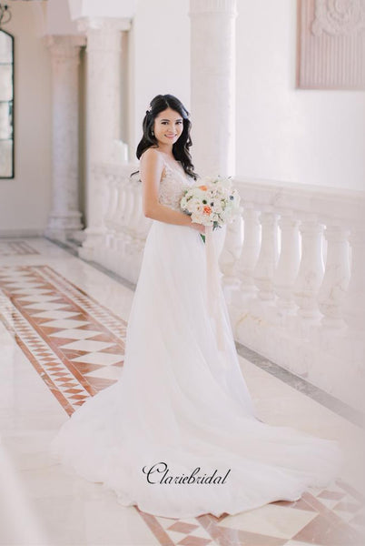 Two Pieces Elegant Lace Wedding Dresses, Fashion Wedding Bridal Gowns