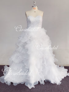 Feedback for Organza A-line Wedding Dresses(Custom Color in White)