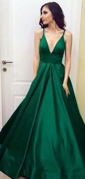 A-line Evening Party Prom Dresses, Newest Simple Design Prom Dresses