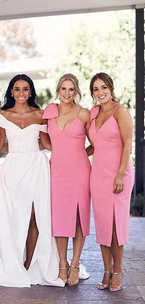 V-neck Popular Bridesmaid Dresses, 2020 New Bridesmaid Dresses, Wedding Guest Dresses